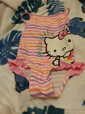 Lovely Girls George Hello Kitty Swimming Costume Age 18-24 Months