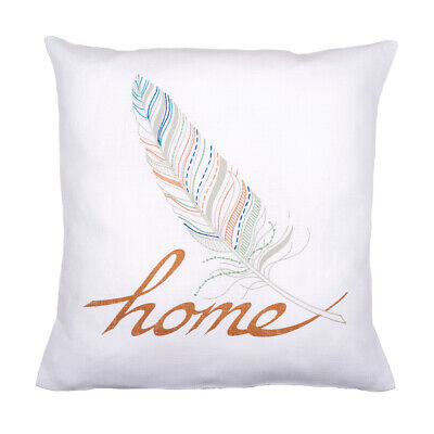 VERVACO|Embroidery Kit: Cushion: Feather Home|PN-0162153