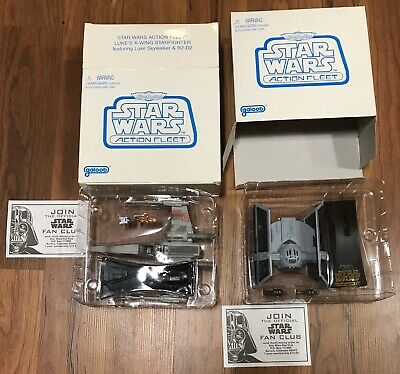 Star Wars Micro Machines Action Fleet X-Wing & Tie fighter