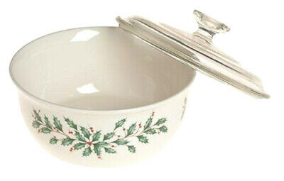 Beautiful NEW LENOX DIMENSION COLLECTION Holiday Casserole With Lid 1.5 Qt.