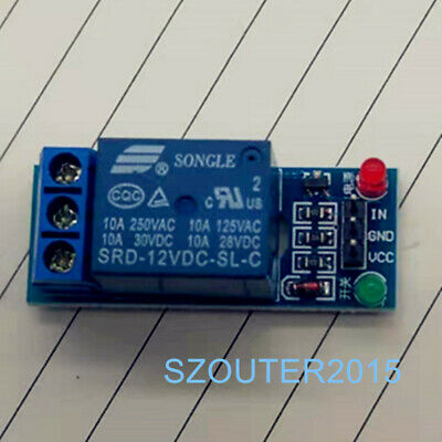 1PCS 12V 1 Channel Relay Module With optocoupler For PIC AVR DSP ARM Arduino New