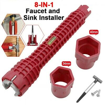 Faucet & Sink Installer Tool Water Pipe Wrench For Plumbers And Homeowners