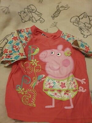 Lovely Girls Peppa Pig Swimming Top Age 4-5 Years