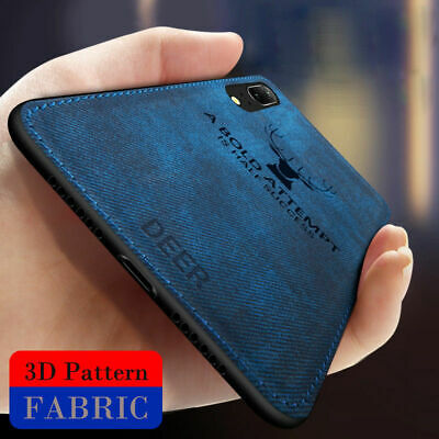 For Samsung S8 Plus S9 S10 Note 10 Case Hybrid Soft TPU Leather Matte Back Cover