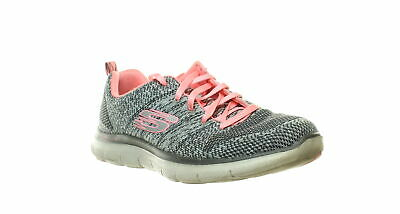 SKECHERS WOMENS CHARCOALCORAL Knit Walking Shoes Size 8