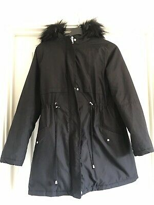 New Look Maternity Coat Size 12 Hooded Parker
