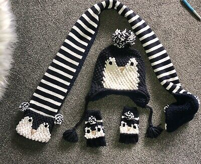 Fat Face Hat Scarf Gloves Set Age 4-6 Years