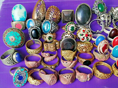 Lot of 50 Ancient ROMAN, BYZANTINE AND MEDIEVAL Rings Rare With 3 Old Bracelets