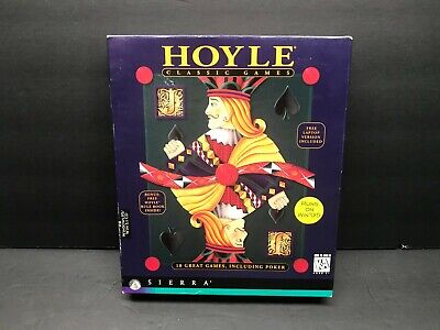 Hoyle Classic Solitaire 1995 Sierra Attractions Big Box 3.5