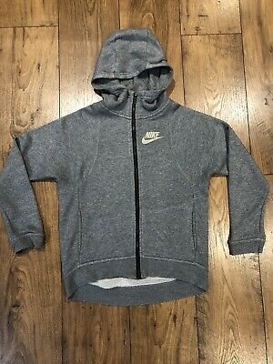 NIKE GREY ZIPPER HOODY AGE (M) 10-12 Years GIRLS IMMACULATE CONDITION