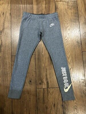 GIRLS NIKE GREY LEGGINGS IMMACULATE CONDITION AGE 8-10 Years (S)