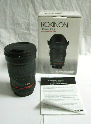 Rokinon T1.5 35mm AS UMC Lens - Canon Mount