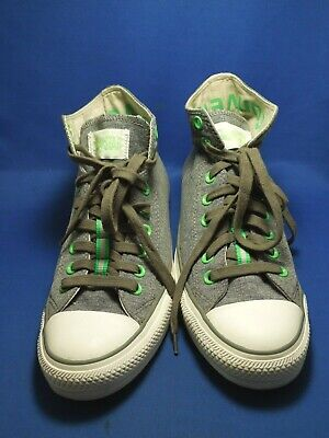 Converse Chuck Taylor All Star Canvas Gray and Green Shoes Women's Size 11