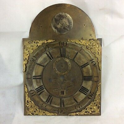 Antique Brass Longcase Clock Face. John Hoskin, Penzance. Reuse / Restoration