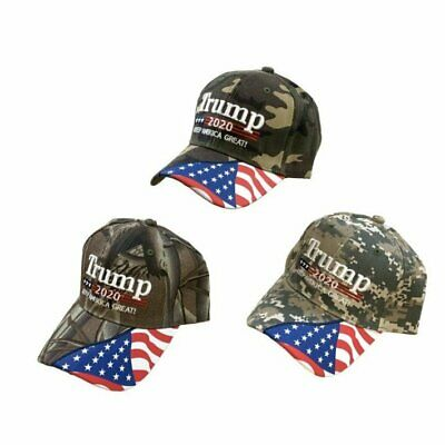 Trump 2020 Ball Cap US Flag Front With Keep America Great Print Unisex Hat NEW