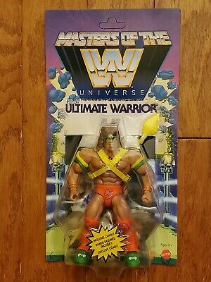 IN HAND Ultimate Warrior Exclusive WWE Masters of the Universe MOTU He-man