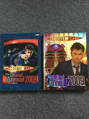 Collectibles! Dr Who The Official BBC Annuals 2008 & 2009 - As New Condition