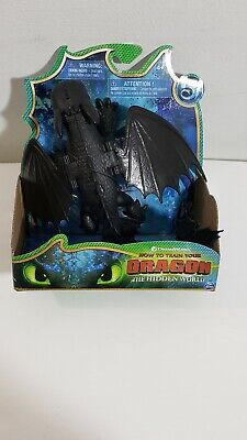 Dreamworks How To Train Your Dragons Hidden World Toothless Dragon Figure New