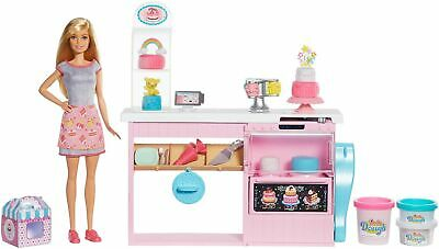 Barbie GFP59 Cake Decorating Playset with Blonde Doll, Baking Counter and Toy...