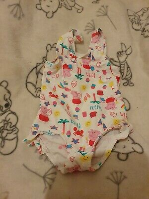 Lovely Girls Next Peppa Pig Swimming Costume Age 12-18 Months