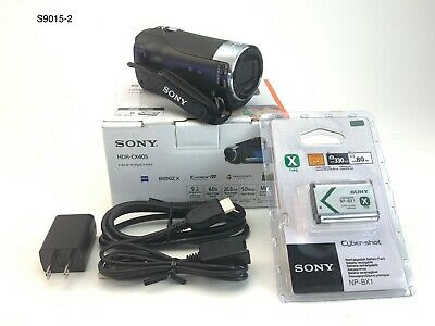 Sony Handycam HDR-CX405 Full HD 60p Flash Memory Camera Camcorder - Black