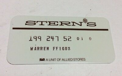 Stern's Department Store 1970's Vintage Collectors Credit Card