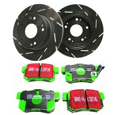 Auto Shack SCD787PR41259 Front and Rear Drilled and Slotted Brake Rotors and Ceramic Pads