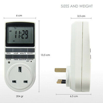 LCD Programmable Digital Timer Switch Socket 12/24 Hours Timer Switch Clock Plug
