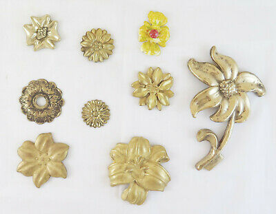 Collection of Relic Fret a Flower Bronze Golden for Decoration Home CH15