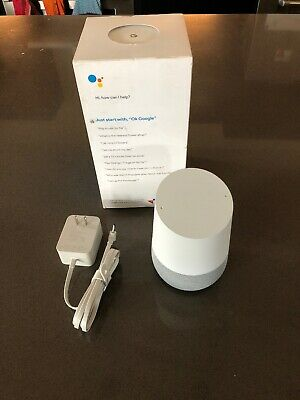 Google Home Personal Assistant Voice Activated Speaker - White Slate - With BOX