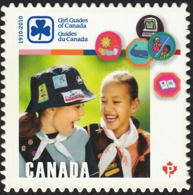 GIRL GUIDES AND BADGES = DIE CUT = Canada 2010 #2402i MNH VF