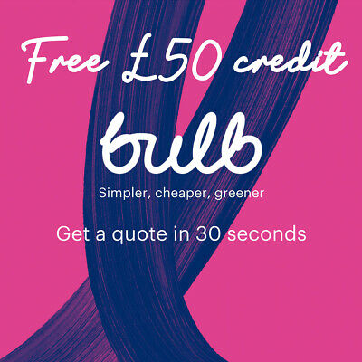 £50 Bulb Energy Voucher for Electricity and Gas