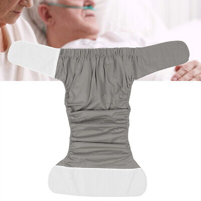 Large Adult Cloth Diaper Reusable Washable Incontinence Adjustable Nappy