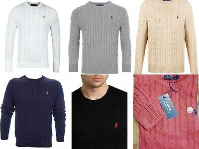 Ralph Lauren Cable Knit Cotton Jumpers Sweater Free & Fast UK Delivery