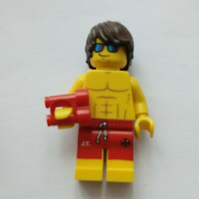 **LEGO CMF SERIES 2//12 MINIFIG LIFEGUARD RED FLOAT 90395 **