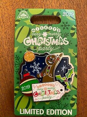 2019 Disney Mickey's Very Merry Christmas Party Gingerbread Man Pin LE 5000