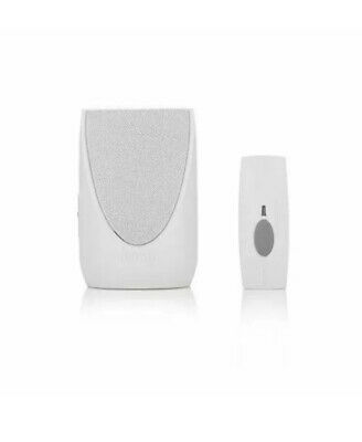 Byron Rechargeable Wireless Doorchime Kit White WireFree 8 chimes Model SX-220iw