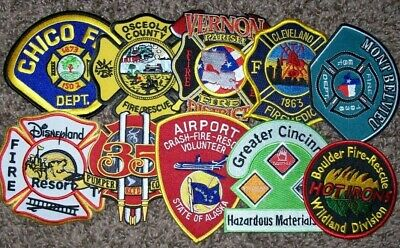"""*CLEARANCE*  Set # 1 - 10 Total Fire Patch Set  """"NO DUPLICATES IN SET"""""""