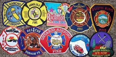 """*CLEARANCE*  Set # 3 - 10 Total Fire Patch Set  """"NO DUPLICATES IN SET"""""""
