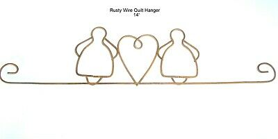 """Rusty Wire Angel Doll Quilt Hanger 14"""""""