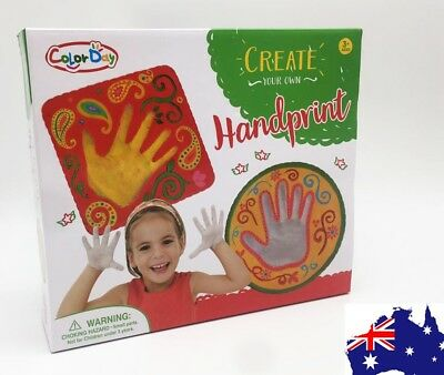 Child Kids Handprint Footprint Plaster Casting Kit Great Gift Set Handprint kit