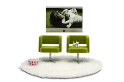 Lundby Stockholm Television Set With Armchairs LUN-9028  - Brand New