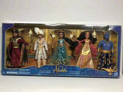 Disney Aladdin Agrabah Collection 5 Fashion Dolls Live-Action Kids New