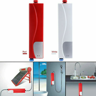 Mini Instant Electric Tankless Hot Water Heater Kitchen Bathroom Under Sink Tap