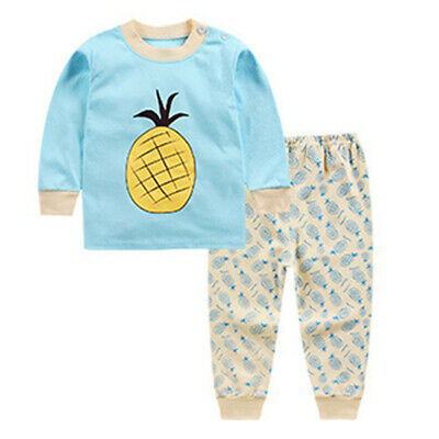 Kids Long Sleeve Newborn Baby Tops Pants Boy Girls Clothes Set Jumpsuit Outfits