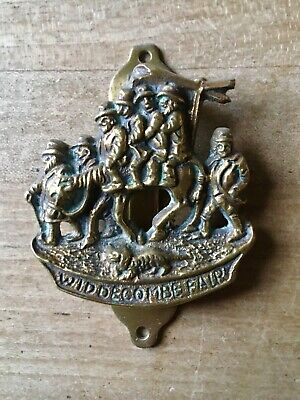 Vintage Brass Door Knocker Widdecombe Fair Small Antique