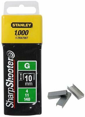 STANLEY SHARPSHOOTER HEAVY DUTY STAPLE GUN STAPLES 10mm 1-TRA706T