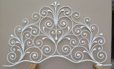 Bed Header for Double Bed Wrought Iron a Tail Peacock Vintage Headboard 4