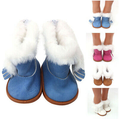 Winter Glitter Doll Shoes For 18 Inch American Girl Doll Accessory Girl's gifts