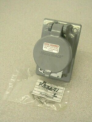 Russell Stoll Multi-Pin Receptacle w/ Cover 600VAC 250VDC 20 Amp 6P 7W SKR7G